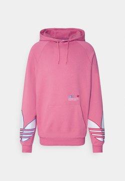 adidas Originals - ADICOLOR TRICOLOR TREFOIL HOODIE - Bluza z kapturem - light pink