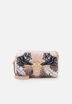 Pinko - LOVE CLASSIC PUFF TIGER QUILT - Torba na ramię - white/black/cipria