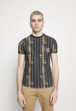 Brave Soul - CALOR - T-Shirt print - jet black/multicolour