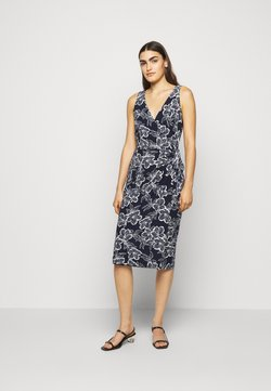 Lauren Ralph Lauren - PRINTED MATTE DRESS - Jerseykleid - lighthouse navy