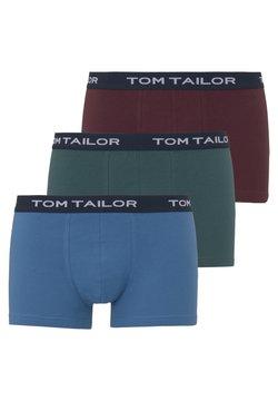 TOM TAILOR - 3 PACK - Shorty - red-dark-uni