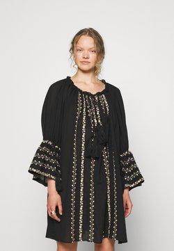 byTiMo - EMBROIDERY DRESS - Freizeitkleid - black