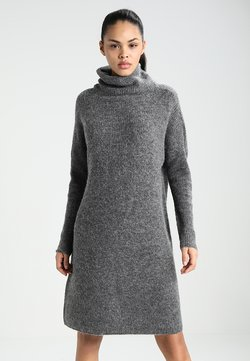 ONLY - ONLJANA COWLNECK DRESS  - Strickkleid -  grey