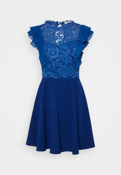 WAL G. - HUMERA LACE SKATER DRESS - Jerseykleid - electric blue