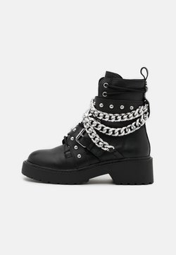 Steve Madden - TEMINA - Lace-up ankle boots - black
