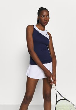 ASICS - CLUB TANK - Funktionsshirt - peacoat/brilliant white