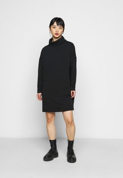 GAP Petite - COWL NECK DRESS - Vapaa-ajan mekko - true black