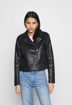 Pepe Jeans - FLORES - Imitatieleren jas - black