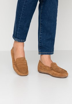 Anna Field - LEATHER MOCCASINS - Moccasins - cognac