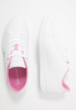 Lacoste - CARNABY EVO - Sneaker low - white/light pink