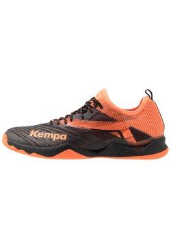 Kempa - WING LITE 2.0 - Zapatillas de balonmano - black/fluo orange
