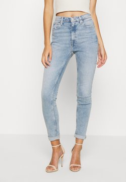 Calvin Klein Jeans - HIGH RISE SKINNY - Jeansy Skinny Fit - light blue
