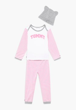 Tommy Hilfiger - BABY STRIPED GIFTPACK SET - Broek - pink