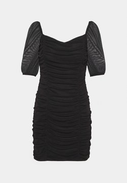 Miss Selfridge - PUFF SLEEVE DRESS - Cocktail dress / Party dress - black