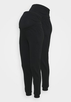 Anna Field MAMA - 2 PACK - REGULAR FIT JOGGERS - OVERBUMP - Jogginghose - black/black