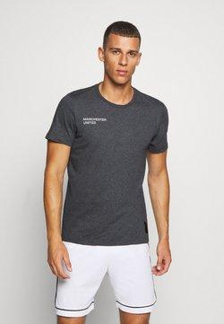 adidas Performance - MANCHESTER UNITED FOOTBALL SHORT SLEEVE - Club wear - dark grey