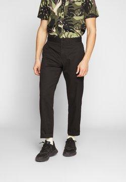 Weekday - YAKIV TROUSERS - Spodnie materiałowe - black