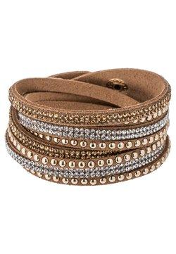 sweet deluxe - WANDA - Bracelet - brown/crystal/topaz/gold