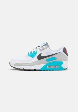 Nike Sportswear - AIR MAX 90 - Sneakers laag - white/iron grey/chlorine blue