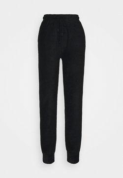 NU-IN - HIGH WAIST TOWELLING - Jogginghose - black