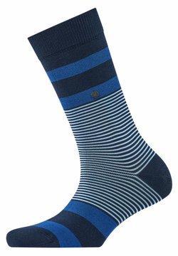 Burlington - BLACK STRIPES - Socken - marine