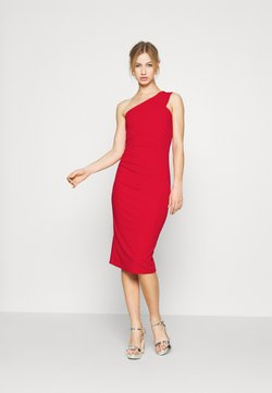 WAL G. - GRACE RUCHED DRESS - Vestido de tubo - red