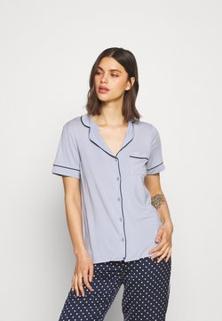 Lindex - CISSI - Nachtwäsche Shirt - light dusty blue