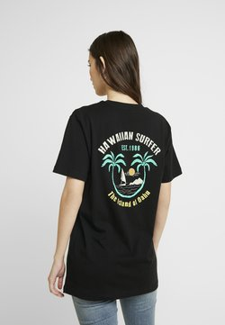 Merchcode - LADIES HAWAIIAN SURFER TEE - T-Shirt print - black
