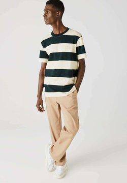 Lacoste - T-Shirt print - dunkelgrün / beige
