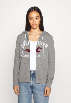 Hollister Co. - TERRY TECH CORE - Sweatjacke - grey