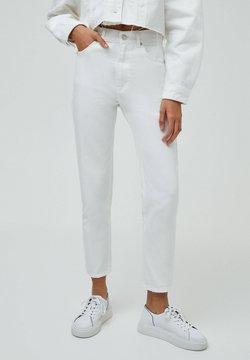 PULL&BEAR - BASIC - Relaxed fit -farkut - white