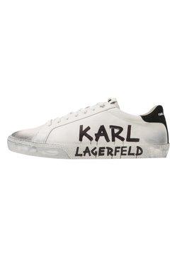 KARL LAGERFELD - SKOOL BRUSH LOGO LACE - Sneaker low - white