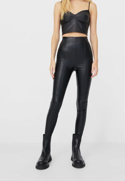 Stradivarius - Legginsy - black
