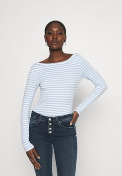 Zign - Langarmshirt - blue/white
