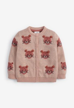 Next - LEOPARD POM  - Strickjacke - pink