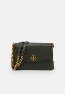 Tory Burch - KIRA PEBBLED SMALL CONVERTIBLE SHOULDER BAG - Handtasche - poblano
