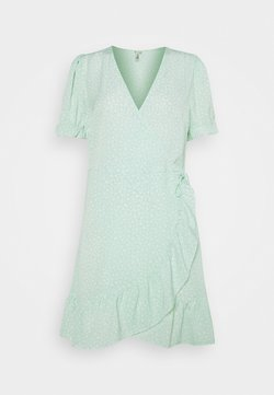 Nly by Nelly - PRINTED WRAP DRESS - Kjole - green
