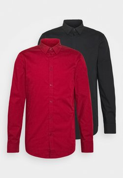 Pier One - 2 PACK - Camicia elegante - black/red