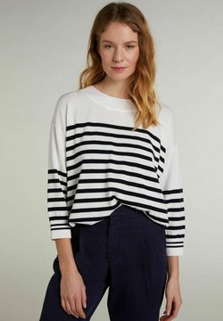 Oui - Sweatshirt - white blue
