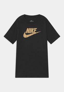 Nike Sportswear - FUTURA ICON - T-Shirt print - black/metallic gold