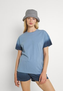 Noisy May - NMOMBRE WENDY - T-Shirt print - faded denim/ombre dark denim