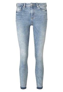 TOM TAILOR DENIM - JEANSHOSEN NELA EXTRA SKINNY PUSH UP EFFECT - Jeans Skinny Fit - random bleached  blue denim