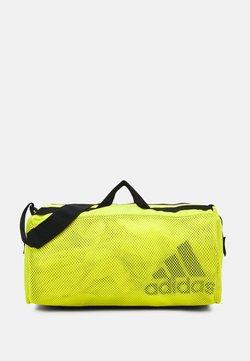 adidas Performance - DUFFEL  - Sporttasche - acid yellow/black