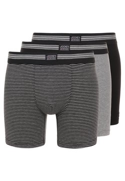 Jockey - COTTON STRETCH LONG LEG TRUNK 3 PACK - Shorty - black/grey