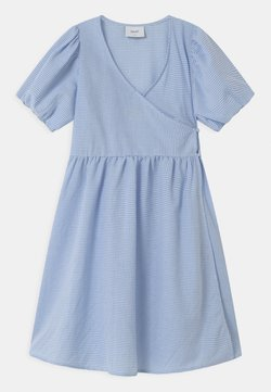 Grunt - IDA WRAP  - Blusenkleid - light blue