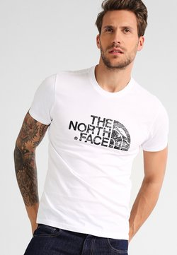 The North Face - WOODCUT DOME TEE - T-Shirt print - white/black
