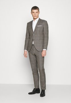 Selected Homme - SLHSLIM CHECK SUIT SET - Garnitur - sand