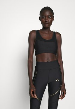 ONLY PLAY Tall - ONPJACINTE SPORTS BRA TALL - Bustier - black/white gold