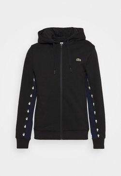 Lacoste Sport - veste en sweat zippée - black/navy blue