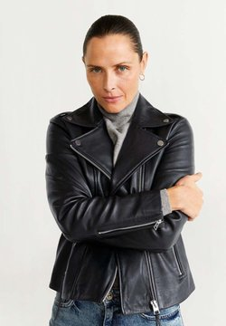 Mango - PERFECT - Veste en cuir - black